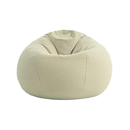TLMYDD Paresseux Canapé Pouf Chambre Canapé Lit Tatami Canapé Chaise Canapé Paresseux (Couleur : Beige)
