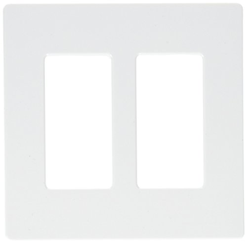 Lutron CW-2-WH 2-Gang White Wall Plate, Pack of 6