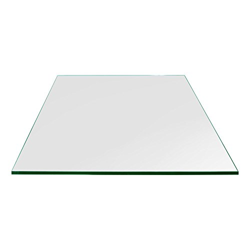 """TroySys - 1/4"""" Thick Square Glass Table Top (34"""" x 34"""") 