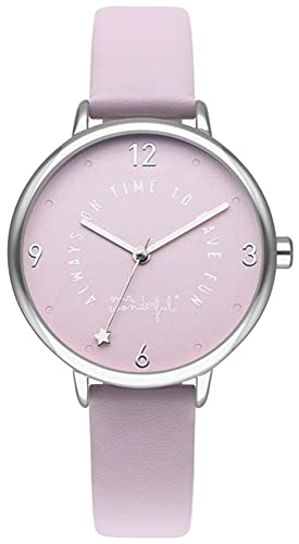 Mr wonderful Wonderful Time Reloj para Mujer Analógico de Cuarzo con Brazalete de Plástico WRLOVE4