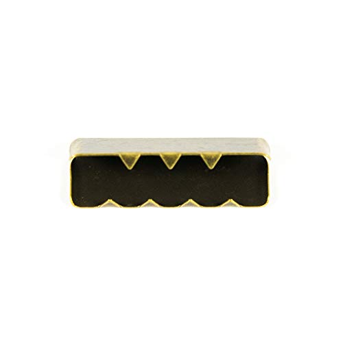 Metall-Endstücke für Gurtband 25mm, messing - Preis gilt für 1 Stück