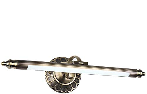 Elinkume Hochwertige Retro-LED-Spiegelleuchte 8W Rostfreie Hardware + Acryl 560LM Warmweiß Badleuchte retro Lampen