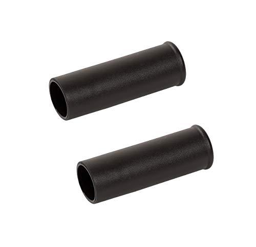 pro-bau-tec 2 Stk Griffe für Schubkarre (Rundgriffe mit Kopfwulst, 31,3 mm Ersatzgriffe für Schiebekarre)