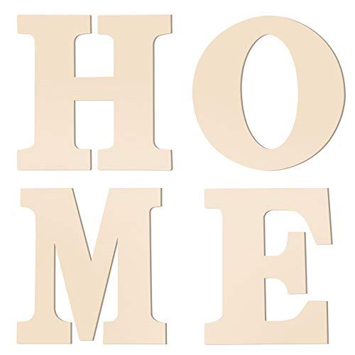 Independiente decorativo letras de madera sin terminar logotipo de la letra grande alfabetos decoración de la pared del regalo de boda del estreno de bricolaje artesanal de Inicio Salón Dormitorio