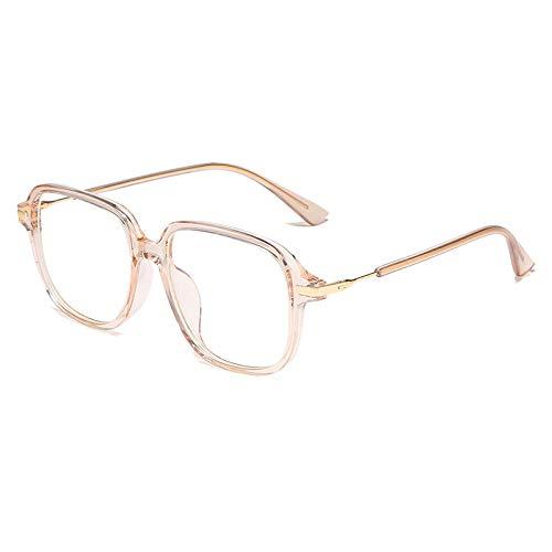 Anti-blauw licht stralingsbril donkergroene platte spiegel Tr90 krasbestendig en duurzaam, licht, drukloos neusglas Powder Box