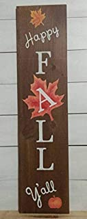 Holiday Sign Fall Winter Rustic Sign Happy Fall Yall Believe Farmhouse Decorrustic Fall Decorfall Porch Decor Antique Cabin Wall Art Decoration Wooden Plaque Sign