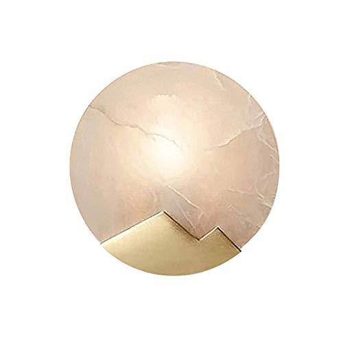 Moderne Minimalistische Wandleuchte, Kupfer im Chinesischen Stil Marmor Steinwand Schlafzimmer Nachttischlampe Einfache Korridor Gang Badezimmer Wohnzimmer Hotel Wandleuchte, BOSS LV, A-20x20cm