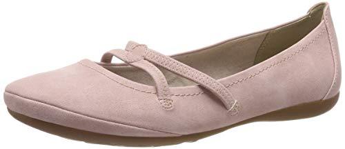 Tamaris Damen 1-1-22110-22 521 Geschlossene Ballerinas Pink (Rose 521), 41 EU