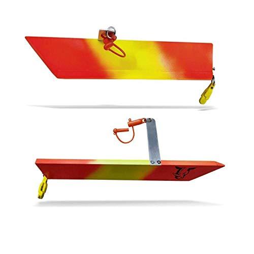 Rhino Sideplaner SL 35x6cm - 2 Planerboards zum Trolling & Schleppfischen, Scherbretter zum Schleppen auf Meerforelle & Lachs