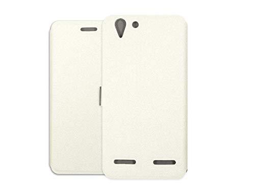 etuo Handyhülle für Lenovo K5 Plus - Hülle Wallet Book - Weiß - Handyhülle Schutzhülle Etui Hülle Cover Tasche für Handy