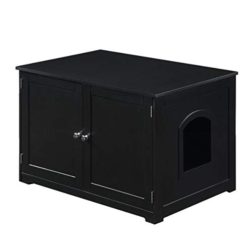 Merry Products Kitty Litter Loo Bench Black