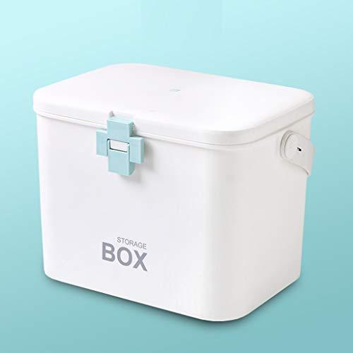 MXueei Botiquín de Primeros Auxilios con compartimientos, Paquete de Emergencia para el Organizador de Almacenamiento de Cajas médicas (Color : Blue)