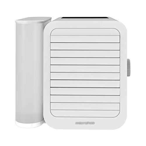 JLDN Personale Raffrescatore, Evaporativo Purificatore d Aria Condizionatore Portatile Air Cooler con Ventilatore Humidificador 3 velocità per Casa, Ufficio, Camper,White