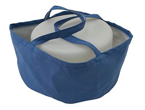 Biona Transportbehälter für Kuchen/Torten für div. Behälter ø 36 cm Höhe 20 cm, waschbar (blau)