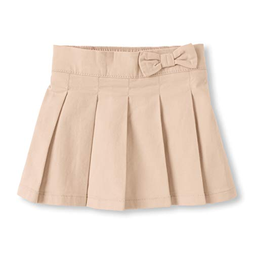 The Children's Place Baby Girls' Toddler Uniform Skort, Biscuit, 5T