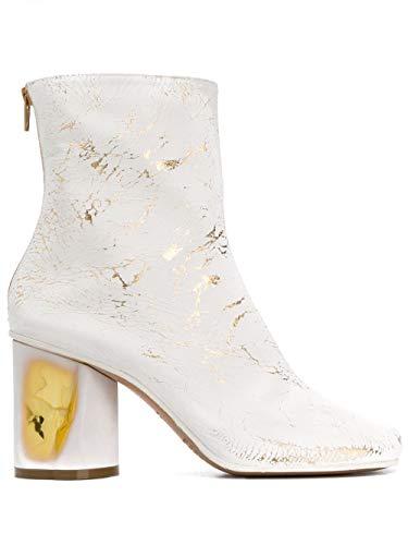 Maison Margiela Luxury Fashion Damen S39WU0139P3049H1800 Weiss Leder Stiefeletten   Herbst Winter 19