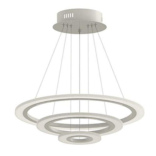70W LED Modern Acryl Pendelleuchte Drei Ringe Deckenlampe Kreative Kronleuchter KalteWeiß Lüster SMD-Lampe Perlen Hängeleuchte (70W KalteWeiß Drei Ringe)