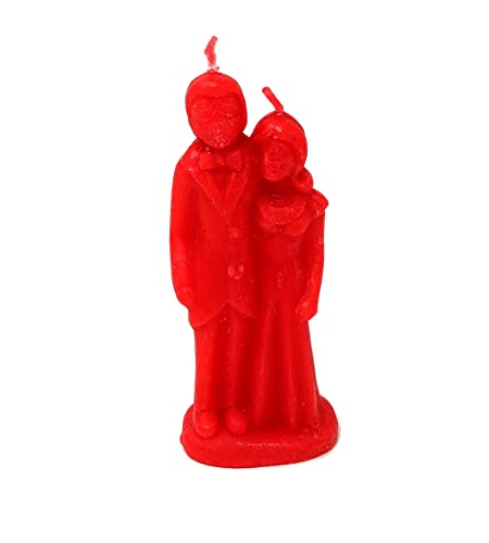 Red Marriage Candle, Bride and Groom Candle, Decorative Ritual Wedding Couple Candle
