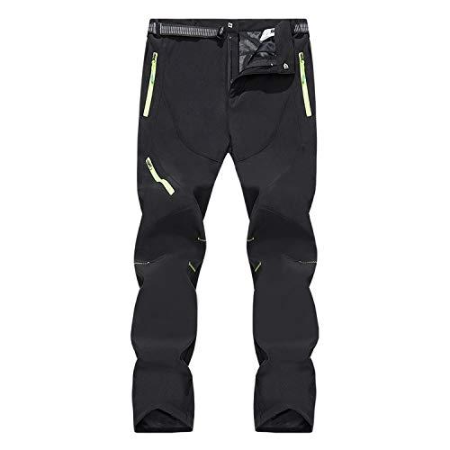 SUKUTU Pantalones de Senderismo Softshell para...