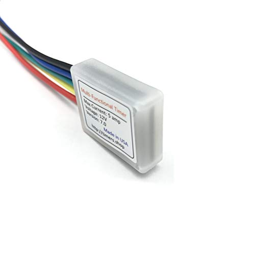 Small Miniature timer on off cycling delay relay 0.1 sec to 9999 hours. 3V 12V 18V DC 5A. Power On Off delay, Cycling. Industrial control and hobby