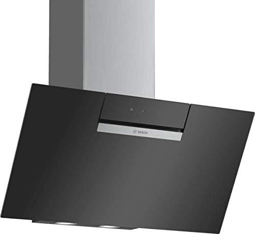 Bosch DWK87EM60 Serie 2 Wandesse / B / 80 cm / Schwarz / wahlweise Umluft- oder Abluftbetrieb / TouchSelect Bedienung / Intensivstufe / Metallfettfilter (spülmaschinengeeignet)