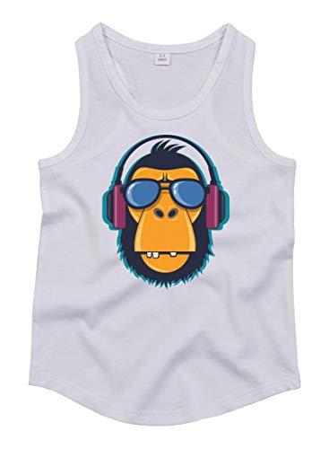 Druckerlebnis24 Tank Top - AFFE Gorilla Sonnenbrille Kopfhörer - Tops Unisex für Kinder - Jungen und Mädchen