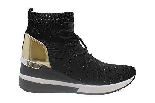 Michael Kors Socke aus Lurex Stoff mit Rückenteil, Schwarz - Schwarz - Größe: 38.5 EU