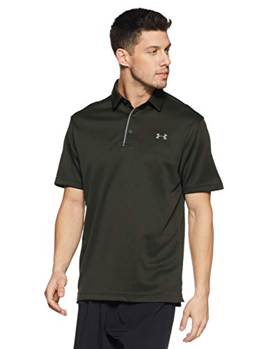 Under Armour Tech Polo T-Shirt Homme, Artillery Green, FR (Taille Fabricant : SM)