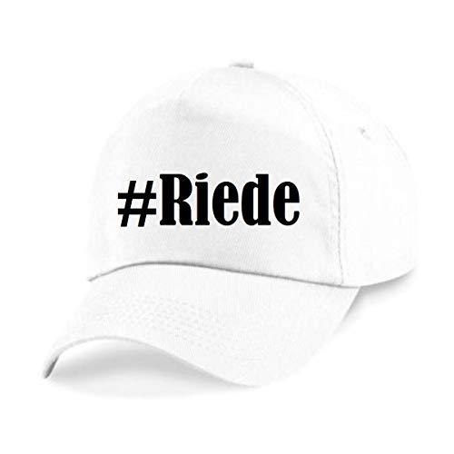 Reifen-Markt Base Cap Hashtag #Riede Größe Uni Farbe Weiss Druck Schwarz