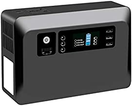 Portable Power Station 230Wh/62400Mah Solar Generator Pure Sine Wave Power Inverter with 2 AC 110V Outlet, 2 DC Ports, 3 USB Ports, LED Flashlight for Camping, Travel, CPAP, Emergency Backup, Home