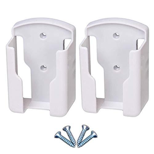 Meirrai Supporto universale per telecomando - Scatola portaoggetti a parete,Per condizionatore, TV box, audio stereo, telecomando TV (2 pezzi,bianca)