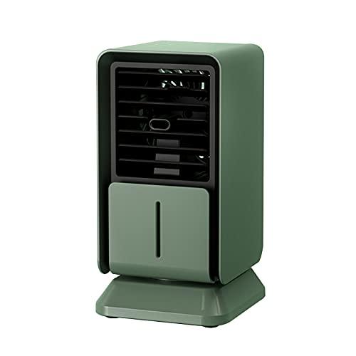 Enfriador evaporativo portátil con 3 velocidades del viento, 120 ° Auto Oscillation Personal Mini Aire Acondicionador de aire 6h Temporizador, Fan del refrigerador de aire de Escritorio 300 ml Tanque