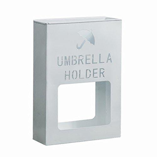 Porte-parapluies Support de Parapluie de Lobby d'hôtel Support de Stockage de Parapluie de Fer forgé Blanc Seau de Parapluie de Bureau de Plancher-Debout