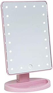 Pink Makeup Mirror With Led