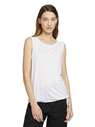 TOM TAILOR Damen 1025838 Basic T-Shirt, 10315-Whisper White, 3XL