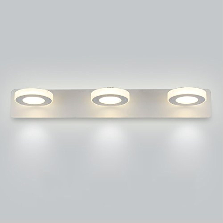&LED Spiegelfrontlampe Spiegel-vordere Lichter, geführtes Badezimmer-wasserdichtes Licht-Spiegel-Kabinett-Lichter Einfache Verfassungs-Wand-Lampen-Wand-Lichter, warmes Wei, ein wenig Kopf