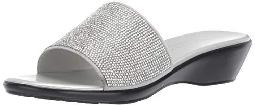 Athena Alexander Women's Stroller Sandal, Silver, 10 M US