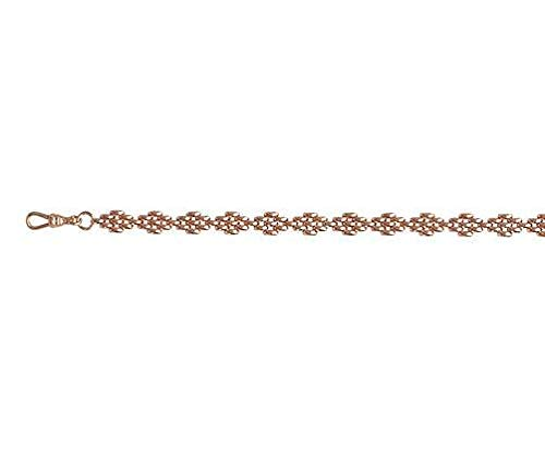 9ct oro rosso/rosa Diamond Panther 140,6cm/40cm collana