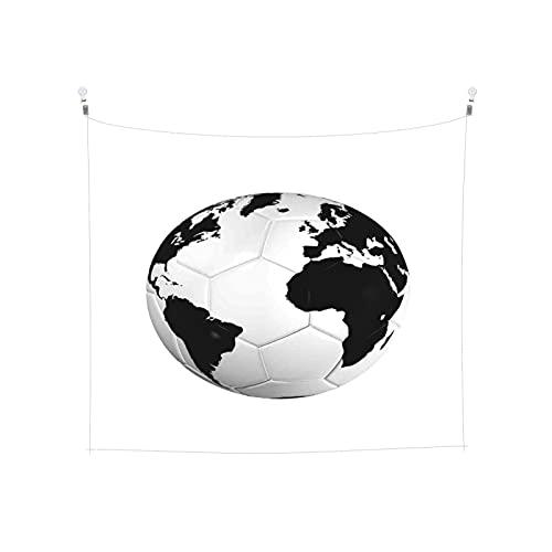 Tapiz de Pared,Balón de fútbol con el mapa del mundo Copa de fútbol 2010 Entretenido juego *Tapestry( Colgante de Pared)Decoración de Pared del hogar para Dormitorio Sala de Estar 203 x 152cm