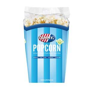 Jimmy's popcorn zout 90 gr | 6x | Gesamtgewicht 540 gr