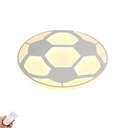 KTDT Lámpara de Techo de Montaje Empotrado con diseño de fútbol Creativo, luz de Techo Moderna de 17 Pulgadas, luz de Techo LED Regulable de 32 W, para Dormitorio de niños, habitación de niños, d