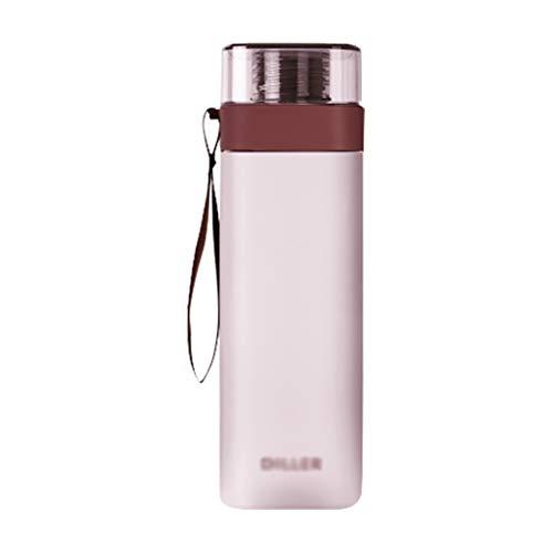 Botella de agua para deportes de 400 ml/550 ml/700 ml, botella grande libre de BPA, frasco deportivo a prueba de fugas, ideal para deportes, correr, senderismo (color rosa, tamaño: 550 ml)