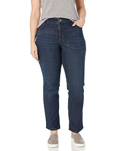 LEE Women's Plus Size Relaxed Fit Straight Leg Jean, Verona, 16W Petite