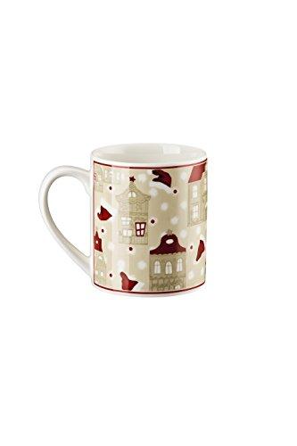 Hutschenreuther - Little Christmastown - Becher mit Henkel - Henkelbecher - Kaffeebecher - Motiv: Häuser 400 ml