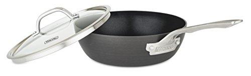 Viking Culinary Hard Anodized Nonstick Saucier Pan, 3 Quart, Gray