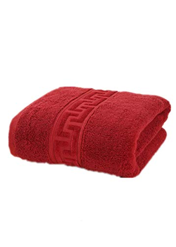 Toalla de Playa de algodón Egipcio Toalla de baño de Felpa baño 70 * 140 cm 650 g de Espesor de Lujo sólido SPA baño Adulto Toalla de baño-Red_80x160cm