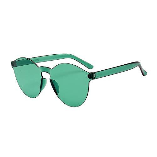 Gafas de Sol Hombres y Mujeres, ☀ URIBAKY Clásico Sin Marco Montura Gafas de Sol Una Pieza Espejo Reflexivo Anteojos para Carreras, Viaje, Conducción, Golf, y Actividades Exteriores …