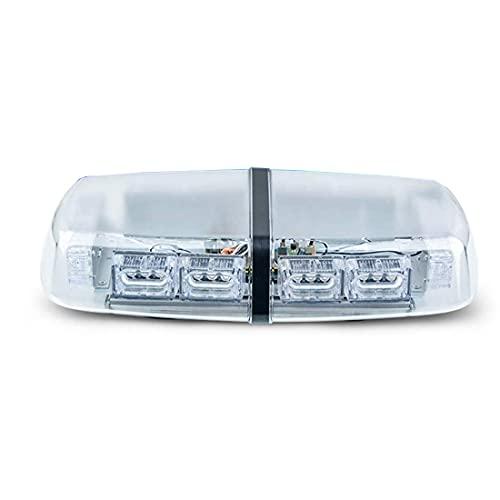 LED de advertencia de techo de automóvil LEDS Luz de emergencia del automóvil, luz impermeable con faro de baliza de la luz estroboscópica con base magnética para automóvil de 12V 24V-Todo azul 12v