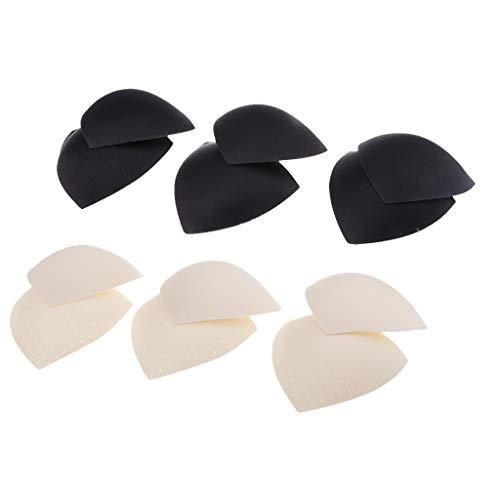 Harilla 6 Pares de Almohadillas de Sujetador Extraíbles Triangulares Suaves Insertos de Esponja Push Up para Bikinis