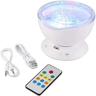 Lightocean Wave Sternenhimmel Aurora Led Nachtlicht Mit USB-Fernbedienung 7 Licht Farbmodi Erbaut in Entspannenden Musik-Player Nachtlicht Projektor Für Baby Kinder,White